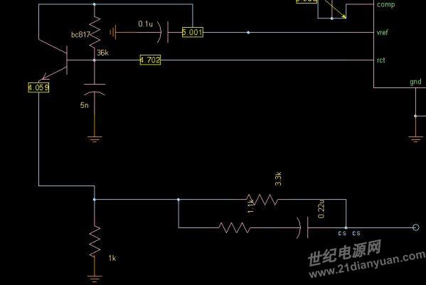 用uc2842电流峰值模式控制的boost电路,想请教下斜坡补偿的