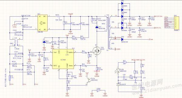 uc3845反激电源,pc817与tl431做的反馈电路无作用图片