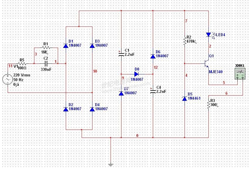 我的阻容降压电路,pf为什么只有0.04左右?