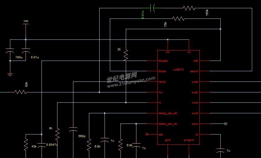 这是芯片外围电路的连接,左边那个线是采样电压输入,下边一排全是