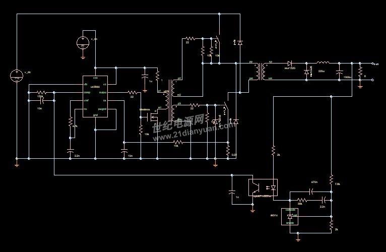 3844双管正激电路图