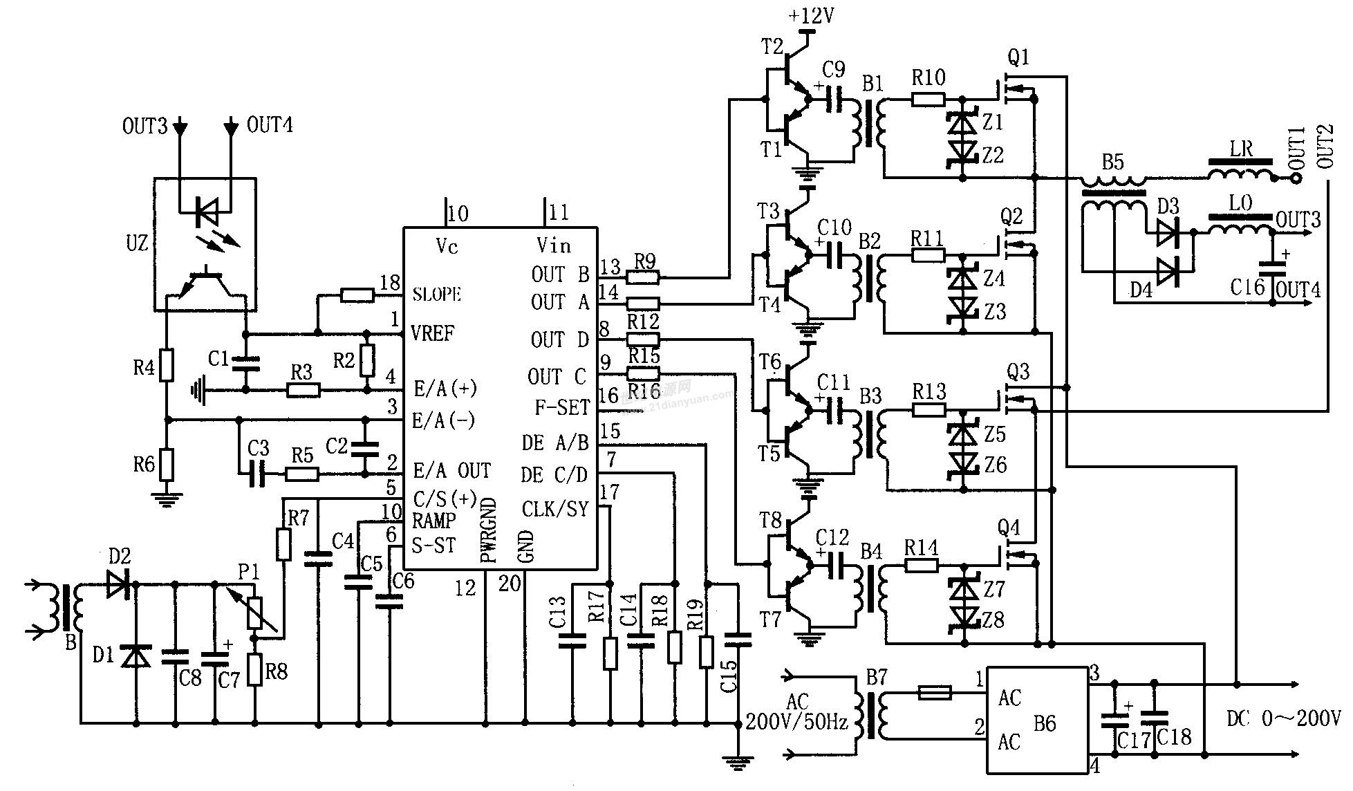 如何调节uc3875的移相角.