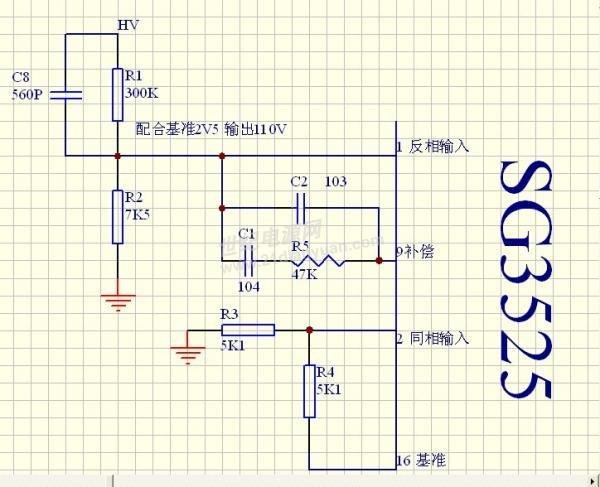 sg3525 驱动波形及环路反馈问题