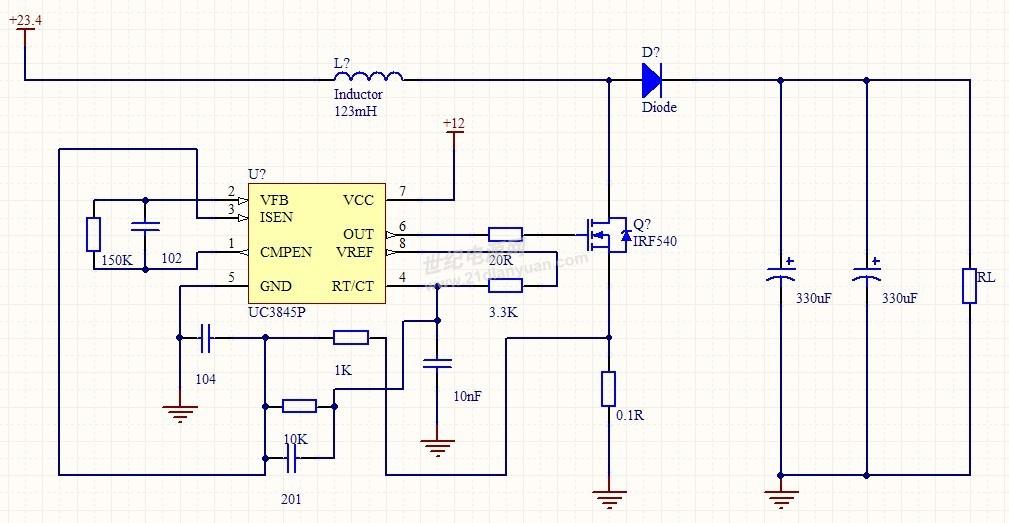 基于uc3843的boost电路求助