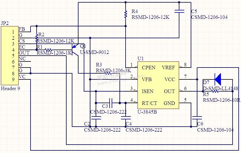 是整个原理图的的一部分,这是个三相四线的电源,3路输出,都有短路保护