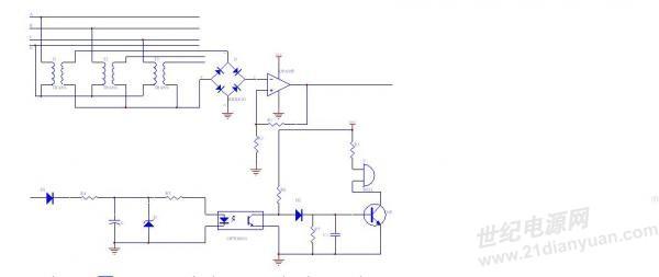 这是我设计的电路图 ,就是接空开的的下端,保证他再有电的时候不报警