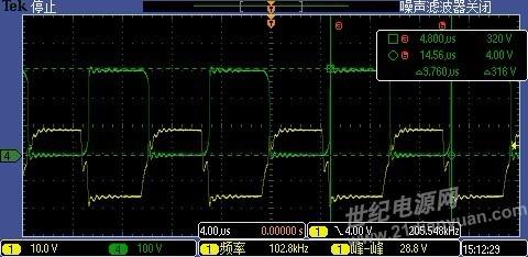 桥式逆变电路由4*3个hs20n50和变压器组成,变压器一次回路中串联隔直