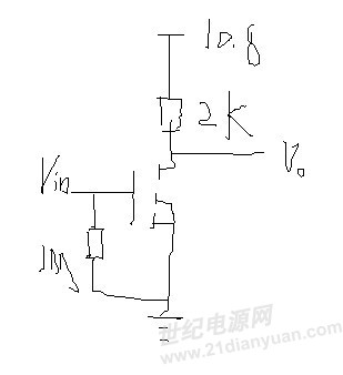 刚用irf840做了个开关电路,可是4mh形就打不开?