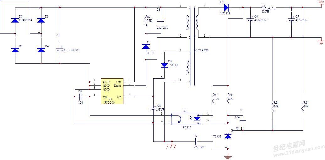 fsd200同一个电路为什么输出波形差很大