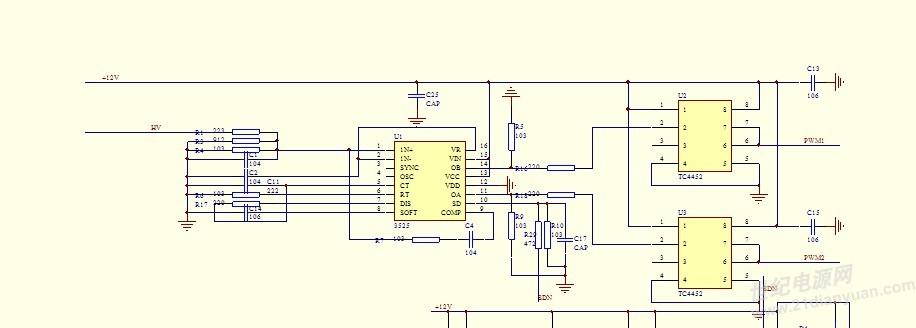 sg3525逆变电源电路图