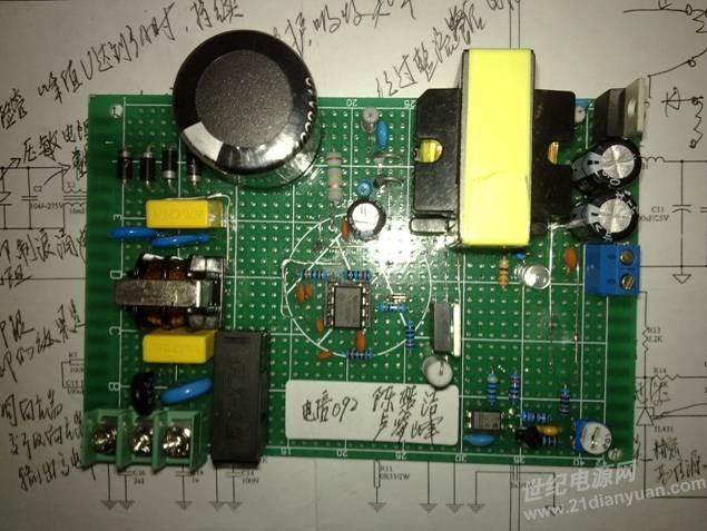 求助:基于uc3842反激式单端输出电路_电源论坛_世纪网