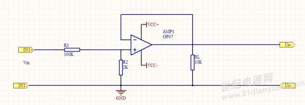 向大家请教用运算放大器op07搭建比例电路的方法