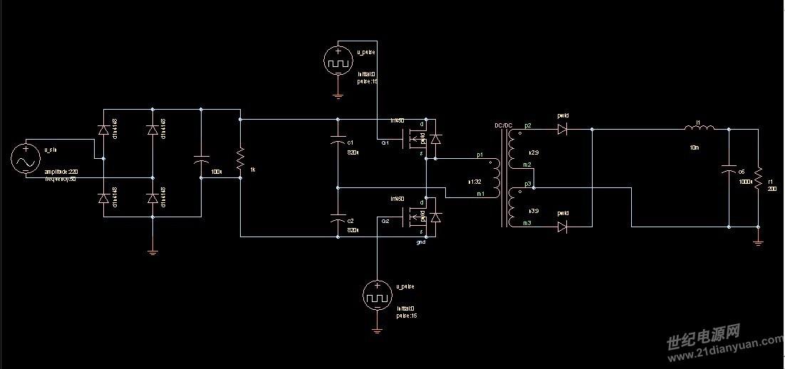 saber:基于sg3525的半桥开关电源仿真