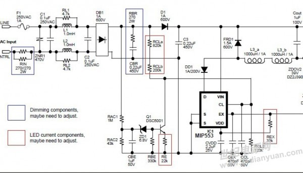 楼上的各位兄弟,不好意思,最近太慢了。不过非隔离电源裸板过辐射问题解决了,原因是AC端(EMI部份)线路拉太长了,果断缩短,改成一磁环,在AC输入、DC输出端都放上一个磁环,AC端磁环为800uH,DC端磁环为300uH,并在整流桥后加LC滤波电路,现在过了,不过余量不是太足,希望对奋斗在LED电源一线的RD们有所帮助,谢谢。 直接上图