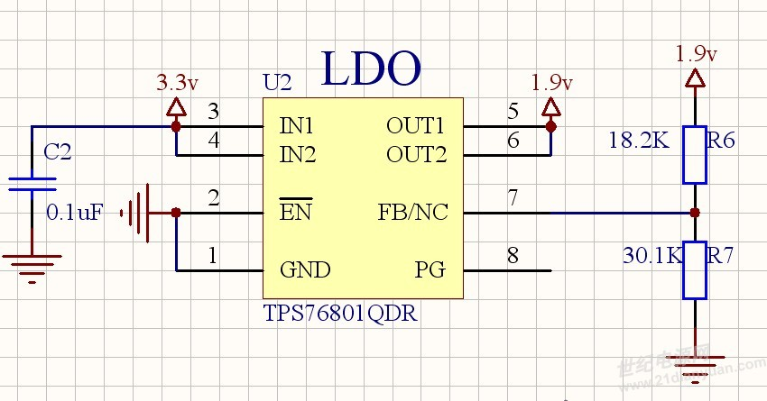 【设计心得】基于tps76801的电压调节器电路