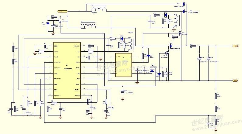 接触时间:2010年 设计项目:3KW自我挑战 使用TI产品及设计过程: 用的是UCC28070来做,频率20K,我现在设计的输入电压范围为90~260VAC,那么按照最小输入电压90VAC来计算,我得到了PFC的电感值,并且确定了所用的电容、开关管IGBT、二极管等主要器件!现在实际主电路的器件都留了余量,唯一差异较大的因素是电感值,计算得到的电感值大概为0.