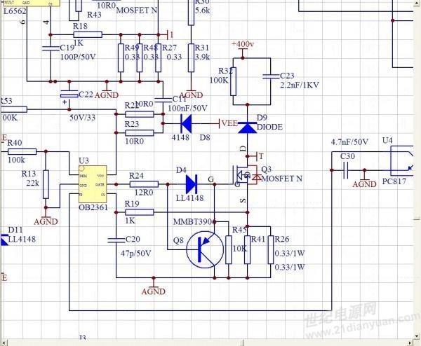 知道qr芯片修改cs电阻输出电压空载电压上升是什么问题,芯片是ob2361.