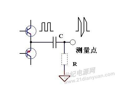 是你电路上                    输入带有的,r是示波器内部的分压电阻