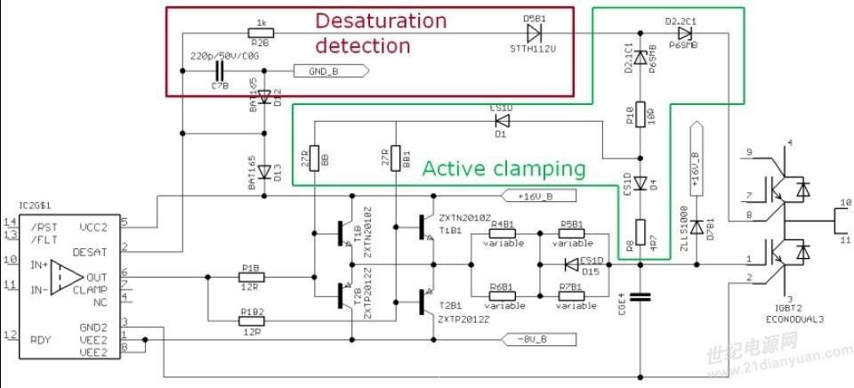 饱和电压保护检测和有源钳位
