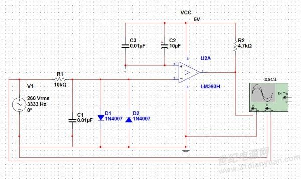高精度交流过零检测电路