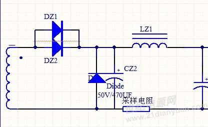 基于uc3842的可调正激电路