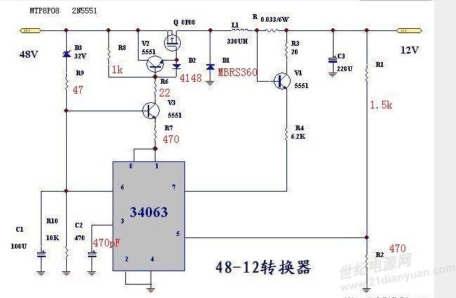 基于mc34063的降压电路,没输出.