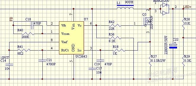 我用uc3843 lm358做了个恒压源但为什么最后电感会有噪音