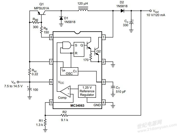 mc34063 buck boost升降压电路求教