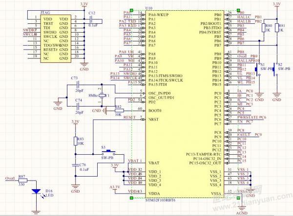 在orcad-pspice里画原理图,stm32f103rbt6这个器件怎么加进去,在库里