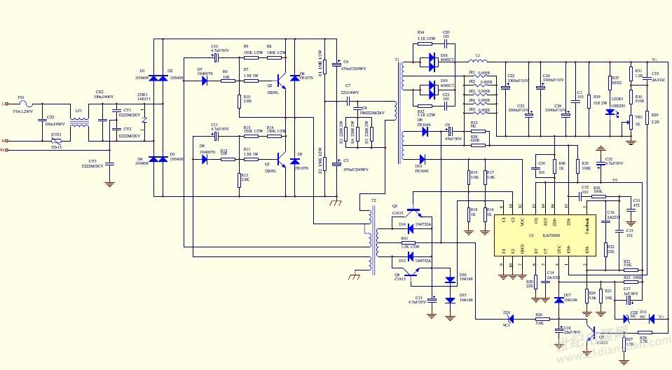 目前调试200W开关电源(5V,40A),共做了5套,其中1套出现问题,现象如下:空载电压5V输出正常,加载到30A,电压在几分钟内降到3.7V左右,无论如何调节输出电位器均不能达到5V输出。 后续调试:检查了电阻,换了驱动芯片(原装),均不能解决问题,最后换了驱动变压器(小变压器),问题解决,老化了一上午,下午出现无输出现象,遂果断更换驱动变压器(小变压器),整机恢复。测试换下的变压器,没有短路,断路等,于是将换下的变压器重新装回去,整机又可以工作了。 基于以上现象,请各位朋友帮忙分析分析!