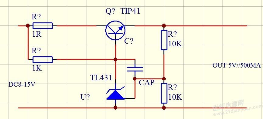 我按照这个电路图 三极管换成tip121 现象和之前的一样