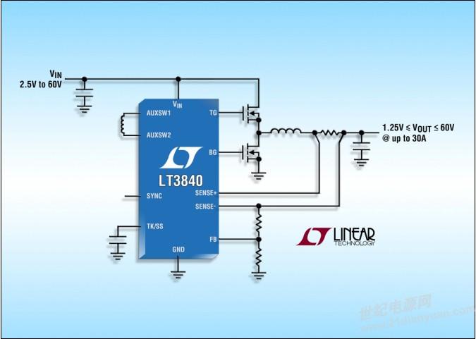 低iq,60v 输入,同步降压型控制器 可工作于低至 2.5v