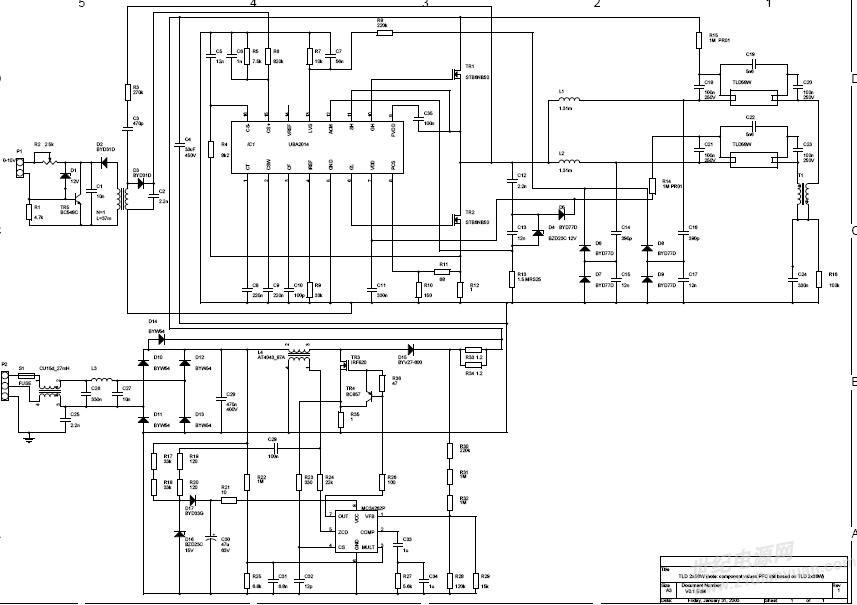 最简单的rcc开关电源电路答:此电路也叫做自激式反激转换器.