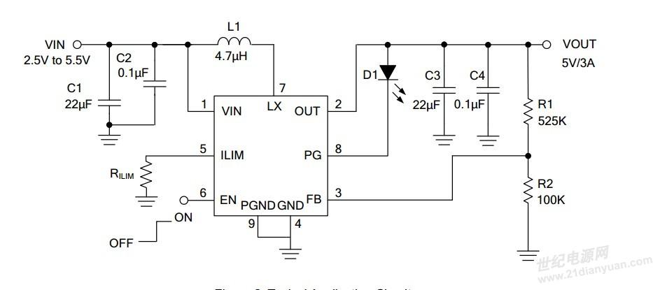 锂电池升压输出5v1a,2a,3a 高于90%效率同步整流升压ic