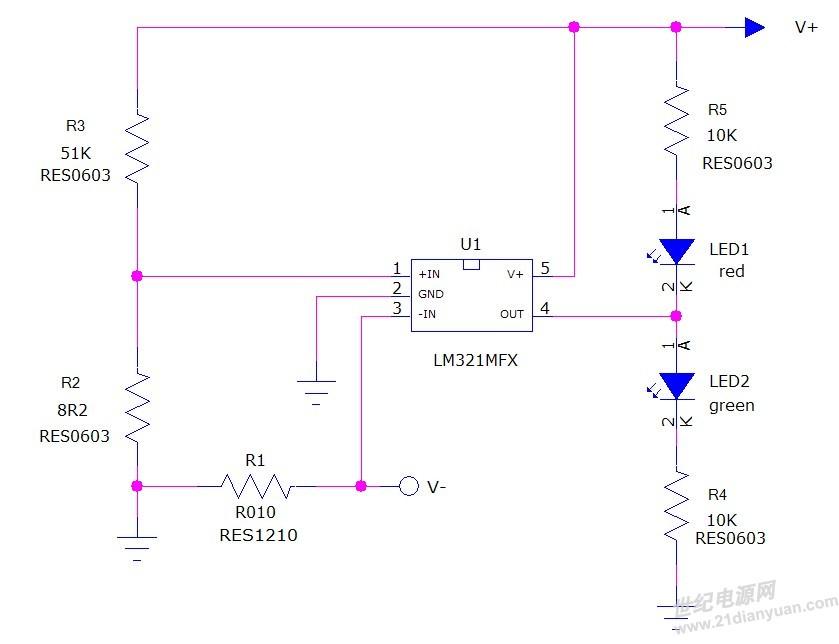 我现在要改成用一颗双色led(共阴或者共阳都可以),请问电路需要如何