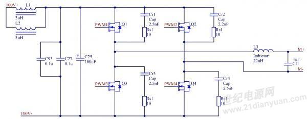 全桥逆变,输出电压无问题,输出电流有毛刺,求助!