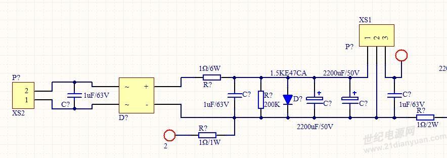我在另外一块做buck-boost电路的电源整流输出部分也和上面的那个图差