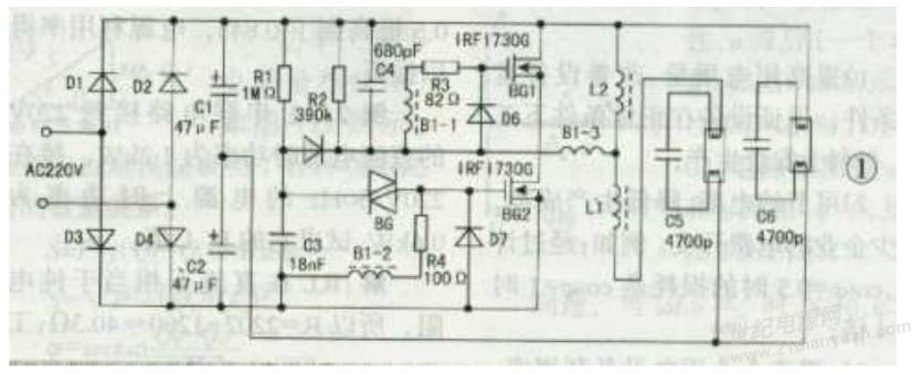 电子镇流器的原理图