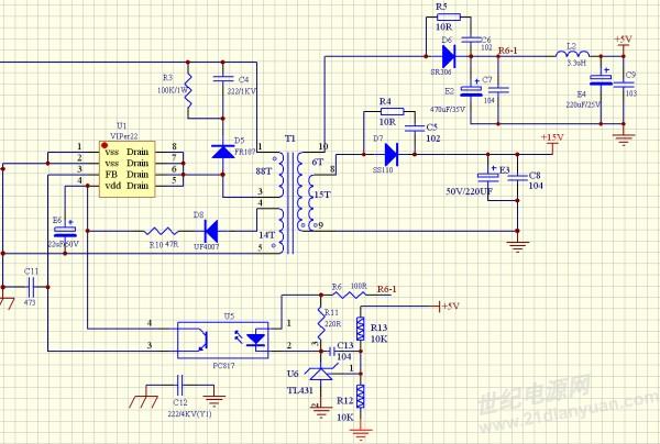 viper22a反激开关电源打嗝