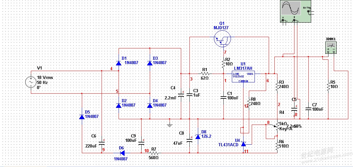 1n4007的平均最大整流电流为1a,怎么选的.感激不尽